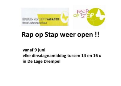 Rap Op Stap Weer Open Website