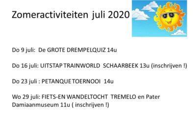Zomer Juli 2020